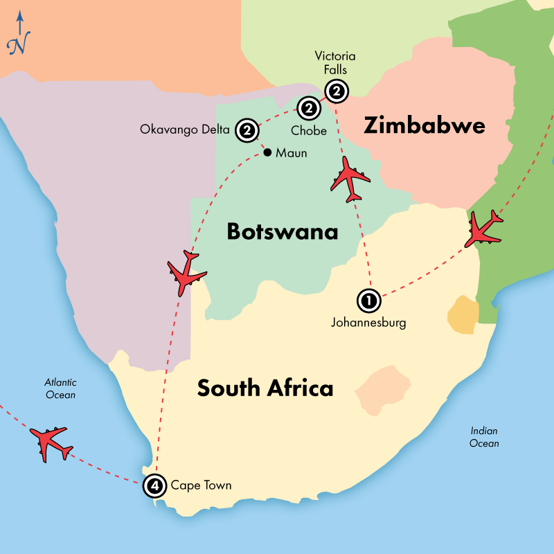 13 Day Zimbabwe, Botswana and South Africa Adventure