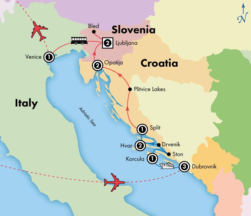 14 Day Dalmatian Isles, Croatia and Slovenia