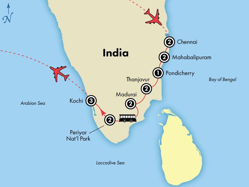16 Day Spiritual Southern India