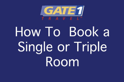How to Book a Single or Triple Room
