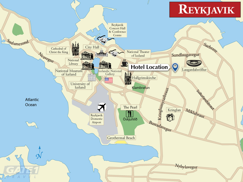 iceland reykjavik tourist map, block diagram, location of iceland in world map