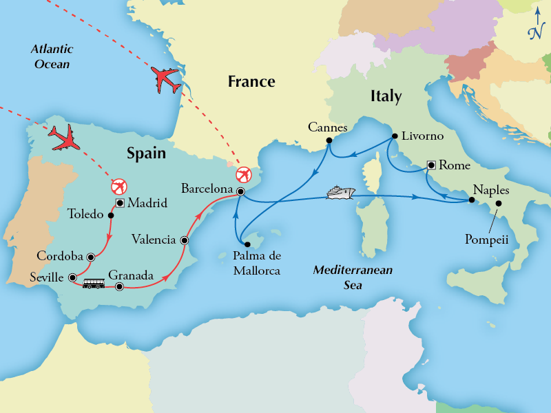 18 Day Spain with 7 Day Western Med Cruise