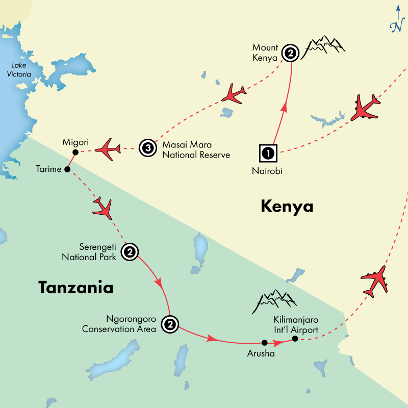 12 Day Deluxe Kenya and Tanzania
