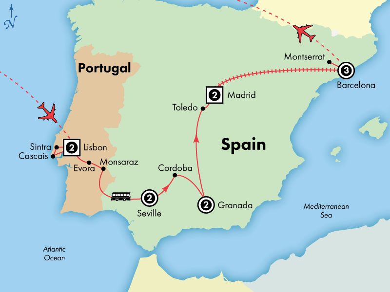 13 Day Deluxe Spain and Portugal
