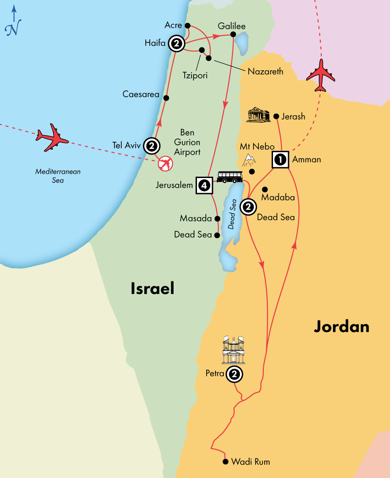 15 Day Deluxe Israel with Jordan