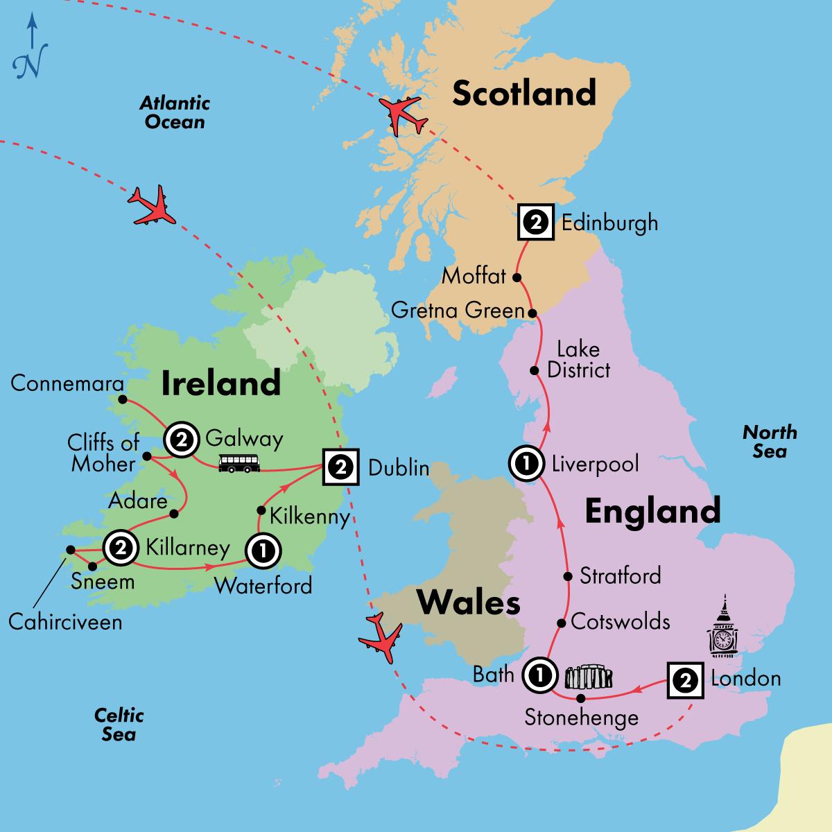 15 Day Ireland, England and Scotland