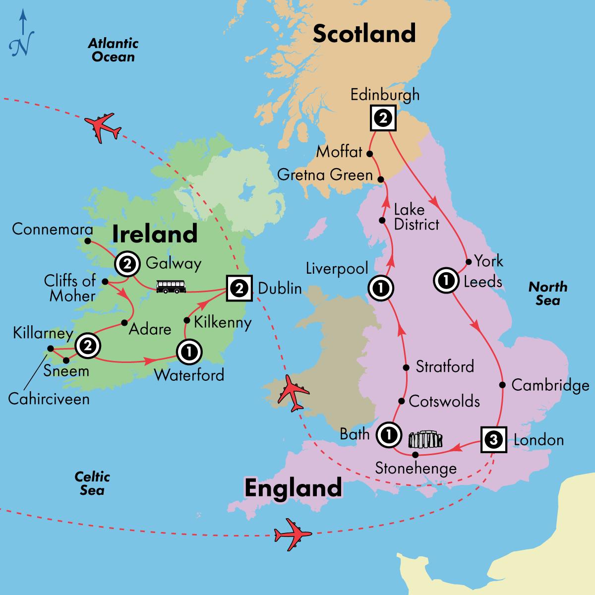 17 Day England, Scotland and Ireland
