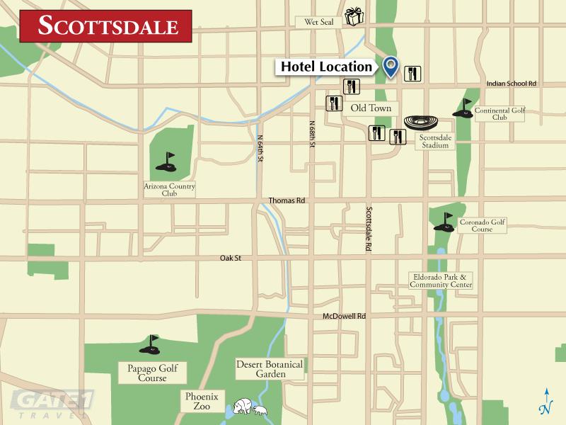 ... Hilton Garden Inn Scottsdale Old Town. Hotel Map